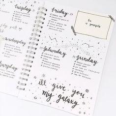 bullet journal idea : weekly