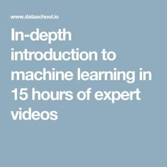 In-depth introduction to machine learning in 15 hours of expert videos Machine Learning Book, Introduction To Machine Learning, Data Science, Computer Science, Logistic Regression, Video R, Decision Tree, Certificates Online, Science Articles