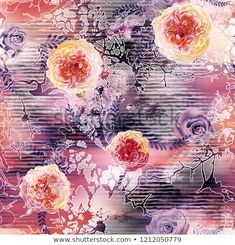 Watercolor Flowers Fabric Pattern On Background Stock Illustration 1212050779 Textile Patterns, Flower Patterns, India Art, Black And White Design, Portfolio, Abstract Pattern, Watercolor Flowers, Fabric Flowers, Wallpaper Backgrounds