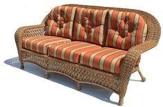 #wickerparadise.com       #sofa                     #Montauk #Outdoor #Wicker #Sofa #(Shown #Natural)   Montauk Outdoor Wicker Sofa (Shown in Natural)                                http://www.seapai.com/product.aspx?PID=153560