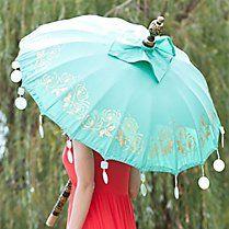 Balinese Parasol Turquoise