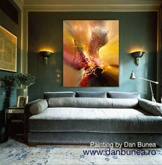 Large abstract painting by Dan Bunea COMMING HOME by danbunea