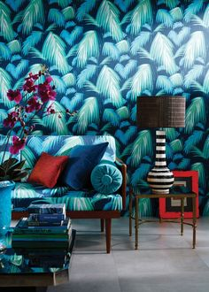 Read & get tips of how to style the tropical trend in your living room
