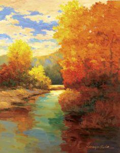 Kanayo Ede - Amber Trees - Fine Art Print