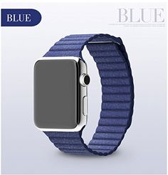 Genuine link bracelet For Apple Watch Leather Loop 38mm 42mm Adjustable Magnetic Closure strap For Apple Watch leather Band DMYY http://www.amazon.co.uk/dp/B01AT38YKA/ref=cm_sw_r_pi_dp_Pq77wb19BY0NM