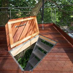 baumraum-Treehouse-Around-the-Oak-2 & Treehouse trap door   tree house ideas   Pinterest   Trap door ... pezcame.com