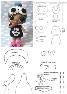 Cutest Felt Toys you will simply adore Felt Crafts Patterns, Sewing Patterns, Fabric Dolls, Paper Dolls, Lol Doll Cake, Cheer Captain, Free To Use Images, Doll Tutorial, Lol Dolls