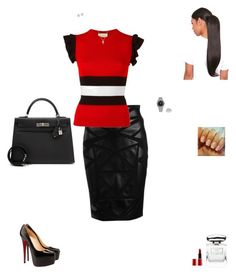"""""""Untitled #512"""" by mignjor on Polyvore featuring Versace, Gucci, Christian Louboutin, Forzieri, Rolex, Anne Sisteron, Bliss Diamond, Hermès, By Terry and Giorgio Armani"""