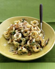 Tortellini with Mushroom Sauce Recipe | Martha Stewart | #pasta #vegetarian #dinner