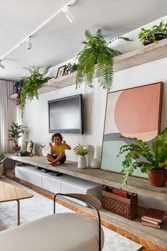 Living Room Modern, Home Living Room, Living Room Decor, Sala Grande, Home Tv, Decoration, Cozy House, Furniture Design, Sweet Home