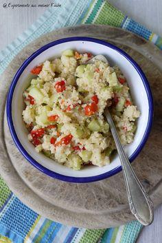 Couscous-Salat mit gegrillter Paprika