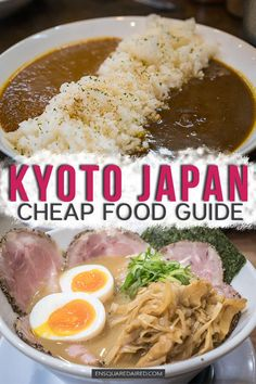 18 Terrific Kyoto Cheap Eats For Under ¥1,200 ($11 USD) | If you are looking for delicious & cheap Kyoto food to eat, check out this guide which has some great restaurants to try. If you are a ramen lover, there's a detailed list of ramen places to check out in Kyoto as well! Include these great places to eat as part of your Kyoto itinerary, which includes a detailed list of places to eat delicious sweets too! #enSquaredAired #Kyoto