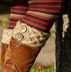 Knitting pattern Boot cuffs