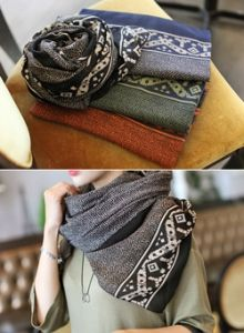 Republic of Korea reigning Women's Clothing Store [CANMART] Herringbone Scarf / Size : FREE / Price : 17.79 USD #scarf #accessory #muffler #korea #fashion #style #fashionshop #apperal #koreashop #missy #canmart