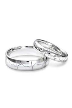 heart beat rings.. Want these for my future wedding bands!