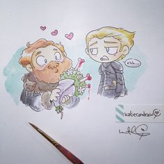 For the inevitable marriage between Brienne of Tarth and Tormund, we've gathered enough fan art to fill a wedding album!