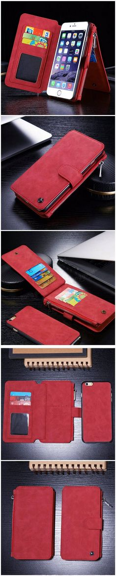 PU Leather Case Flip Wallet Card Bag Case Phone Cover For Apple iPhone 6 6s Plus