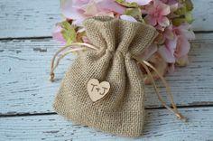 burlap wedding favor bags burlap favor bags shabby by KohnenKorner