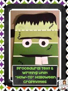 Procedural Text & Writing Unit: Halloween Craftivities