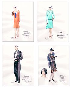 Mark Bridges's costume designs for the film The Artist.