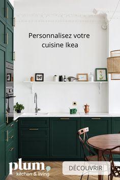 Inspirations : les projets de nos clients Kitchen Interior, Home Decor Kitchen, Cuisine Ikea, New Kitchen, Home Deco, Sweet Home, Home Kitchens, Kitchen Style, Kitchen Design