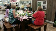 Ms jean teaching our guests about floral design