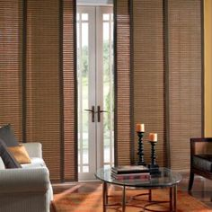 First time I've seen sliding door vertical blinds, pretty awesome