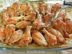 """""""Alitas al horno"""" - Chicken Wings, Shrimp, Menu, Cooking, Recipes, Food, Gluten, Youtube, Gastronomia"""