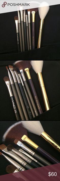 Brush bundle MAC , MUD,etc Eight eye, brow and face brush bundle. Some new , some gently loved. Getting new brushes so destashing my kit. Tarte has sold ! MAC Cosmetics Makeup Brushes & Tools