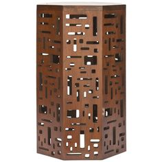 Safavieh Bali Brown Octagon End Table