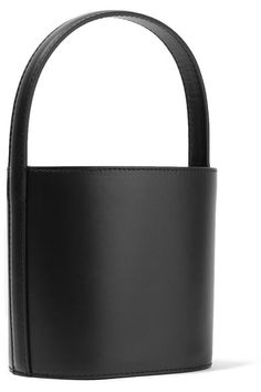 Black leather (Cow) Drawstring top Comes with dust bag Weighs approximately 1.3lbs/ 0.6kgAs seen in The EDIT magazine