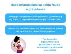 Raccomandazioni su acido folico e gravidanza
