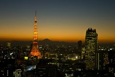Tokyo Tower with Fuji