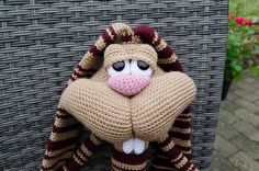 Revelry: Sabax's Test - Dude Rabbit 121 Rabbit dude crochet pattern from LittleOwlsHut  was used to make this guy.