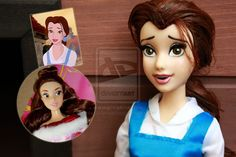 Disney Belle - Doll Repaint | Before-After by claude-on-the-road.deviantart.com on @deviantART