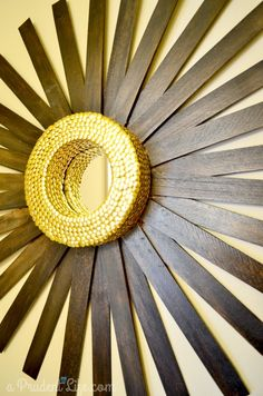 Sunburst Mirror DIY - Shims & Thumbtacks