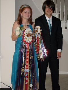 Homecoming mum and garter.