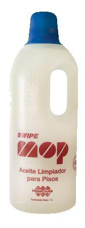 Mop 1 L >> Aceite limpiador para pisos, concentrado, para impregnar el trapeador en seco.      Atrapa el polvo, deja sus pisos brillantes y disminuye el efecto de huella.