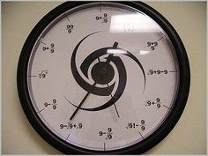 It's always nines o'clock.