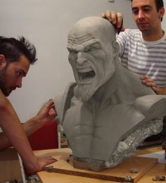 Busto Kratos escala 1:4 [W.I.P.] Consejos..?