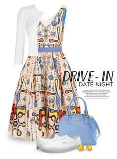 """Summer Date: The Drive-In 1670"" by boxthoughts ❤ liked on Polyvore featuring Peter Pilotto, Phase Eight, Salvatore Ferragamo, Vans, Kate Spade, DateNight, drivein and summerdate"