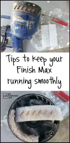 Tips to keep your Homeright Finish Max running smoothly.  Do not let your paint sprayer get clogged. Keep your paint sprayer running smoothly.