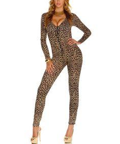 Love this Brown & Black Lush Leopard Costume Set on #zulily! #zulilyfinds