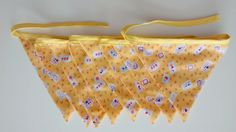 Summery Fabric Bunting, Yellow / Orange / Flowery Bunting by BitsBobsBunting on Etsy