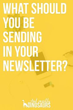 You've heard that you should grow your email list. But what should you be sending in your newsletter? Here are my favorite ideas!