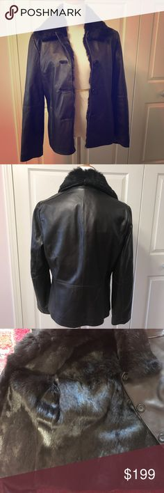 Absolutely Gorgeous Fur Lined Leather Jacket Super soft leather. I checked to see if it was lamb, it's such high quality. Lined in rich non shedding fur.  Dark chocolate color. Simply luxurious! No trades or lowball offers please. Marvin Richards Jackets & Coats