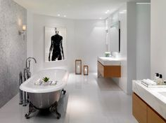 Like floating vanity, thick counter. Bath Design Ideas, Pictures, Remodel and Decor