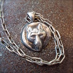 Antique Silver Wax Seal , The Wolf is always at the door by YourDailyJewels on Etsy.com