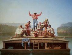 The Jolly Flatboatman, George Caleb Bingham