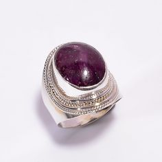 Metal : 925 Solid Silver (Real) Product Name : Ring Gemstone : Star Ruby Stone Size : mm SKU : Weight : 9 Gram All items will be ship within working days *Items will deliver within business days Ruby Stone, Silver Earrings, Sterling Silver Rings, Gemstone Rings, Etsy Shop, Jewellery, Free Shipping, Star, Gemstones